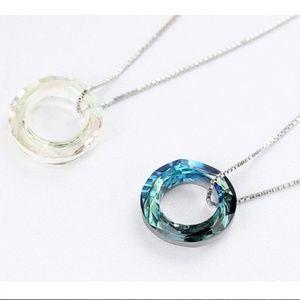 Jewelry - New - Cubic Zirconia Circle Pendant Necklace